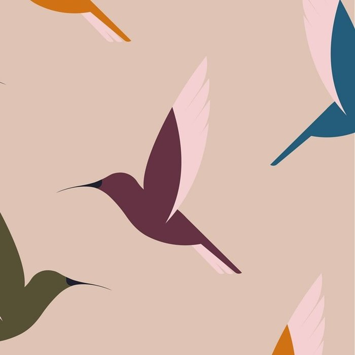 Servilletas bambu 20u hummingbirds bn118