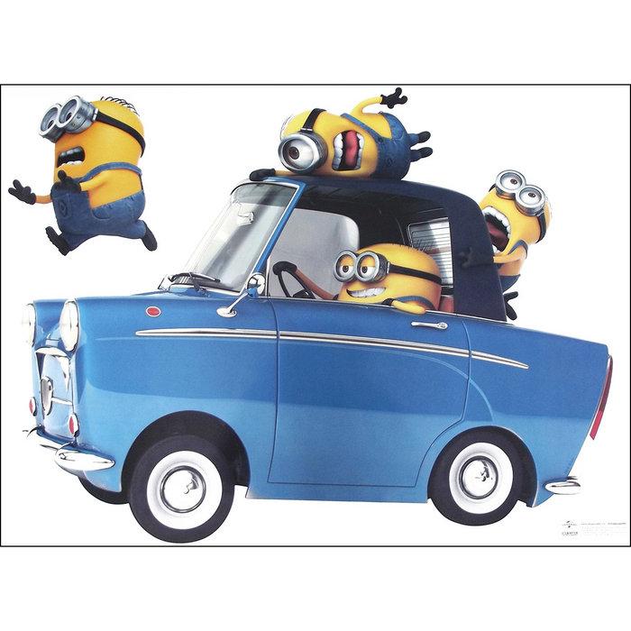 Poster minion car 50x70 cm