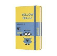 Libreta edicion limitada minions pocket rayado amarillo