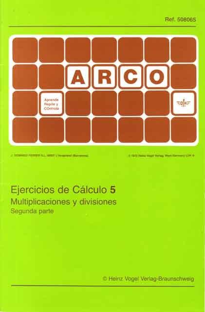 Ejercicios de calculo 5 multiplicaciones y divisiones 2