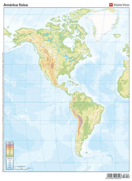 Mapa mudo america fisico color