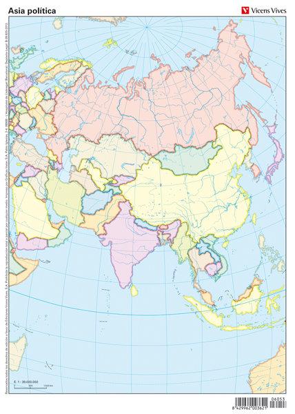 Mapa mudo asia politico color                     vic