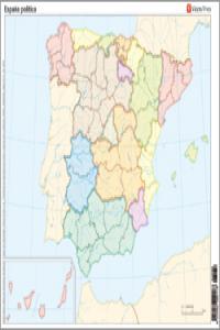 Mapa mudo españa politico color                   vic