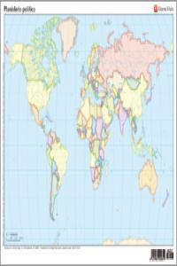 Mapa mudo planisferio politico color n.e