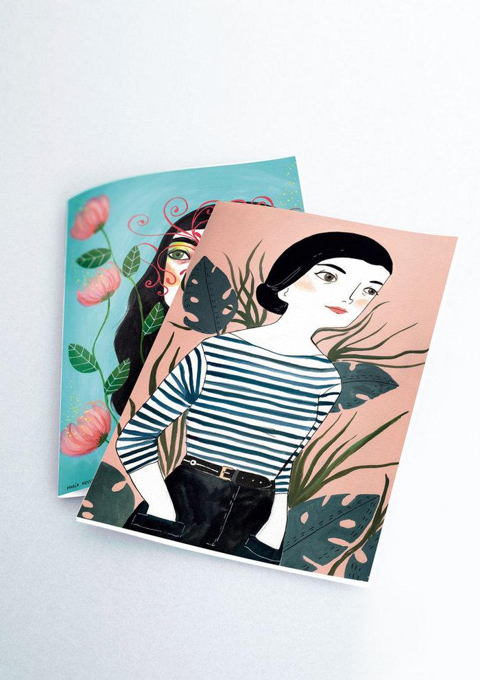 Pack 2 cuadernos cosidos maria hesse