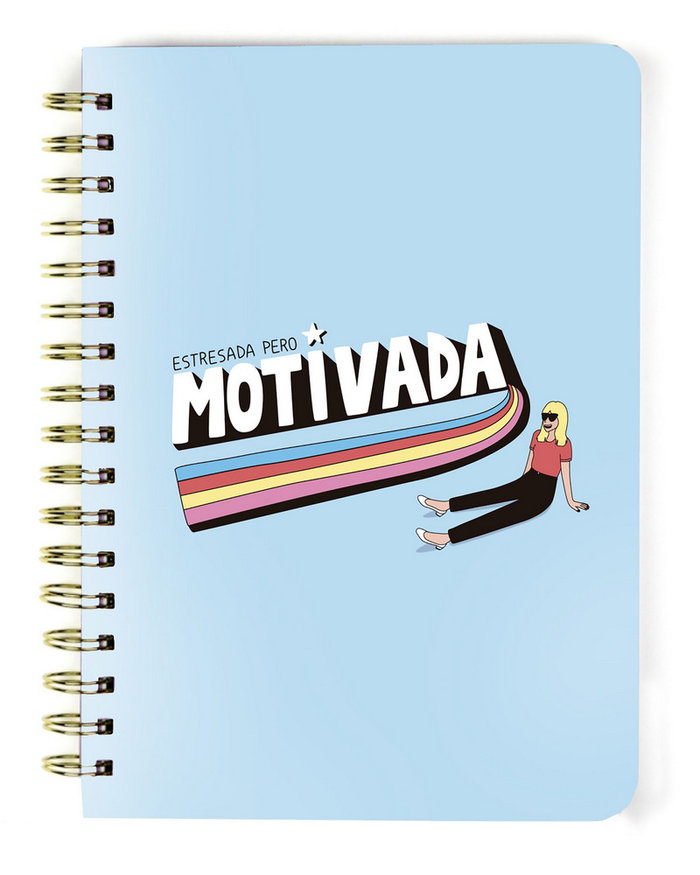 Libreta a5 carton mdp motivada