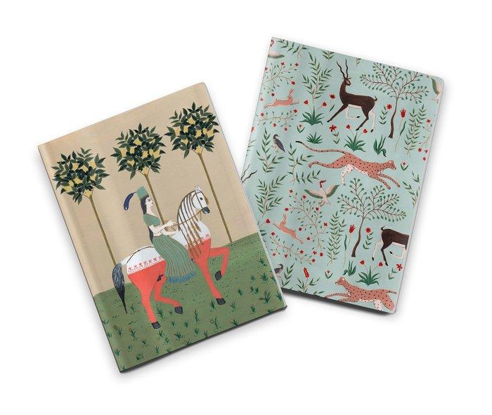 Pack 2 cuadernos cosidos brianda caballo y gacelas