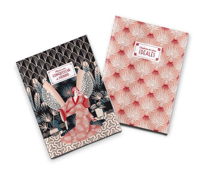 Pack 2 cuadernos cosidos divas de divan planes y conquistar