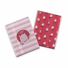Pack 2 cuadernos cosidos lyona i grrr you