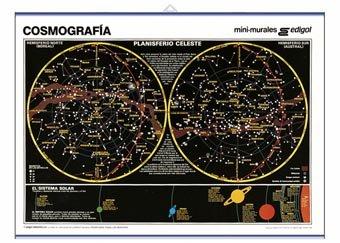 Lamina cosmografia hemisferio boreal austral (50x35)