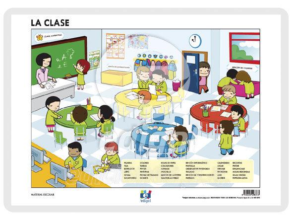 Lamina a3 infantil la clase (42x29)