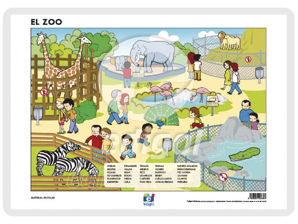 Lamina a3 infantil el zoo (42x29)