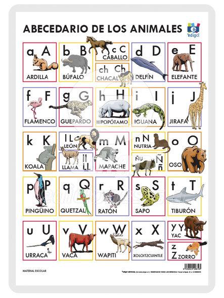 Lamina a3 infantil abecedario animales (42x29)