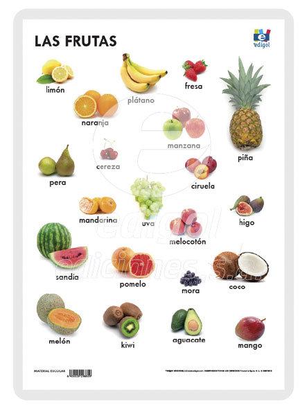 Lamina a3 primaria las frutas (42x29) naturaleza