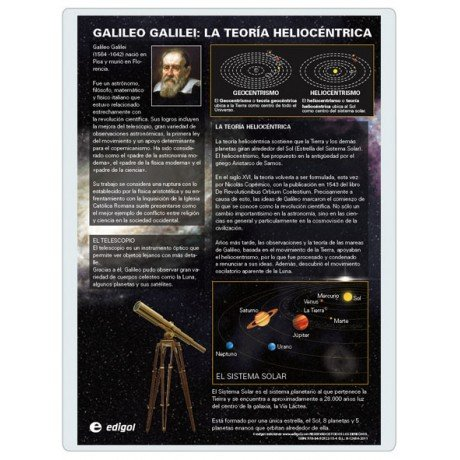 Lamina a3 eso galileo galilei teoria heliocentrica (42x29)