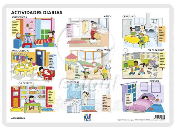 Lamina a3 infantil actividades diarias (42x29)