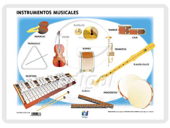 Lamina a3 primaria instrumentos musicales (42x29)
