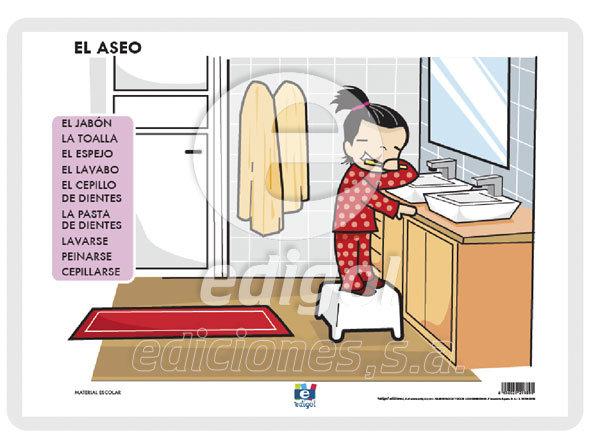 Lamina a3 infantil el aseo (42x29)