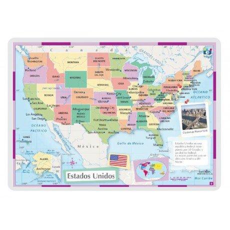 Lamina a3 primaria estados unidos (42x29) cartografia