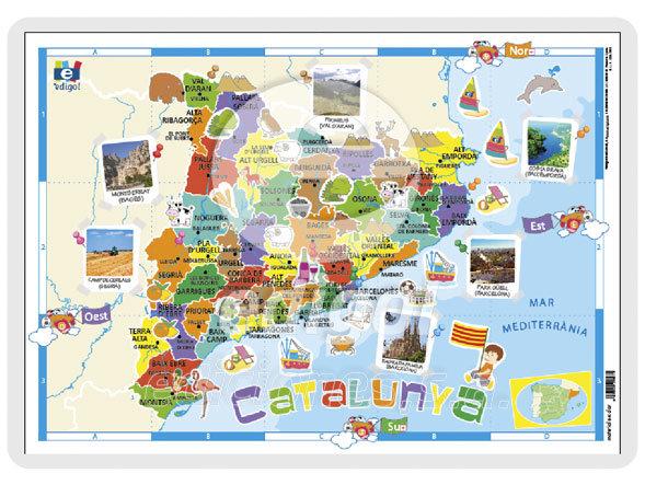 Lamina a3 infantil catalunya (42x29) cartografia