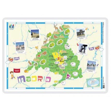 Lamina a3 infantil madrid (42x29) cartografia