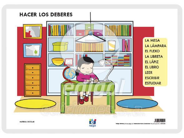 Lamina a3 infantil hacer los deberes (42x29)