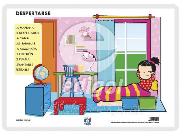 Lamina a3 infantil despertarse (42x29)