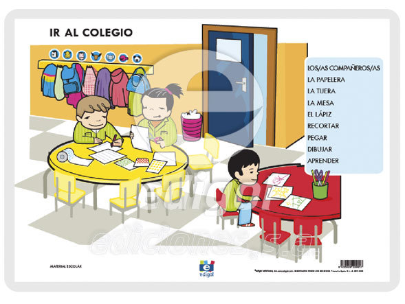 Lamina a3 infantil ir al colegio (42x29)