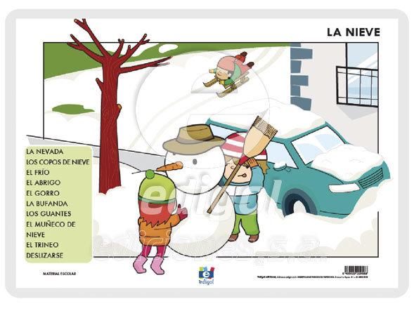 Lamina a3 infantil la nieve
