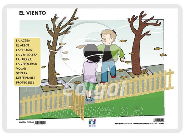Lamina a3 infantil el viento (42x29)