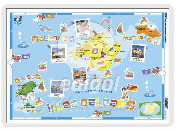 Lamina a3 infantil illes balears (42x29) cartografia