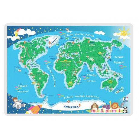 Lamina a3 infantil mundi animalia (42x29) cartografia