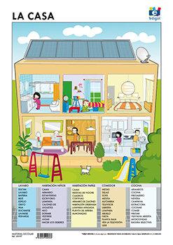 Lamina a3 infantil la casa (42x29)