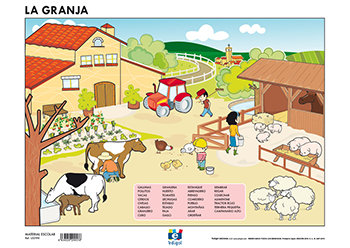 Lamina a3 infantil la granja (42x29)