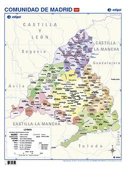 Lamina a3 primaria madrid politico (42x29) cartografia