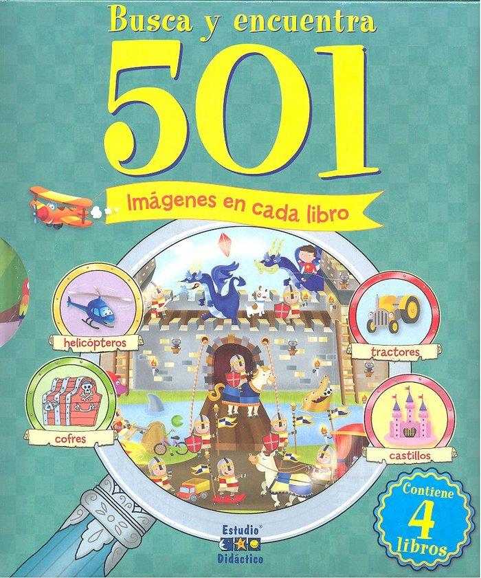 Pack busca y encuentra 501 imagenes en cada libro