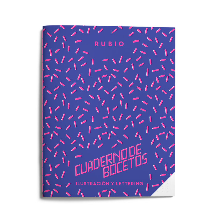 Cuaderno bocetos ilustracion y lettering (años 80)