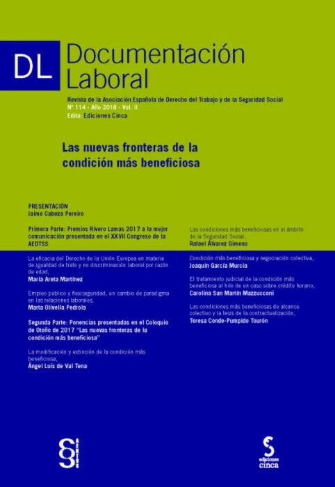 Revista documentacion laboral 114 año 2018 vol ii
