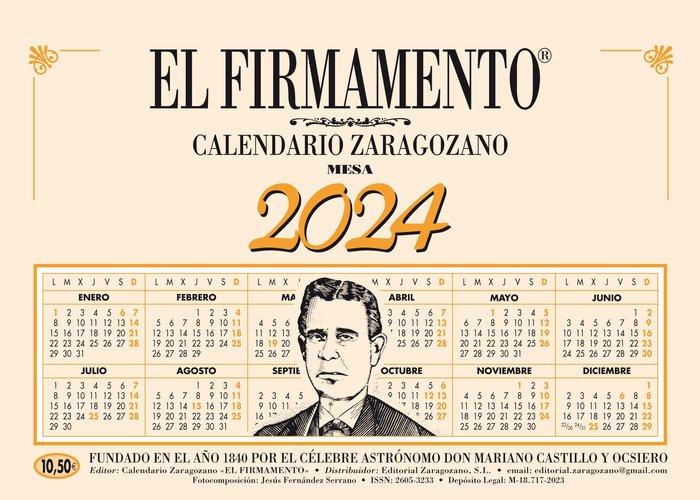 Calendario zaragozano 2022 mesa vertical