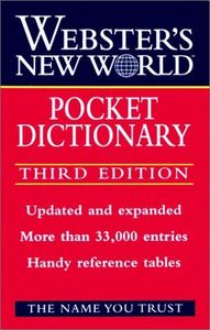 Websters n.w.pocket dictionary 3/e
