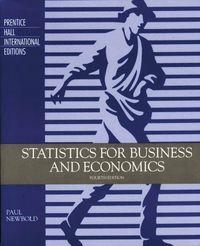 Statics for business economics 4ªedit