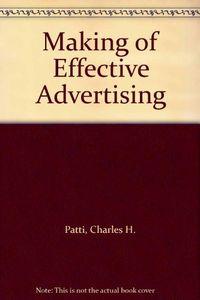 Making effective advertising