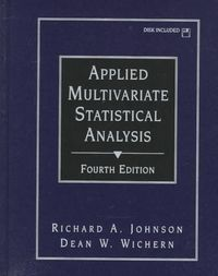 Applied multivariate statistical analy
