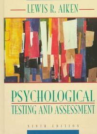 Psychological testing ass