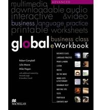 Global advanced business class eworkbook ed.2013