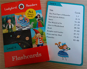 Ladybird readers level 4 flashcards (lb)