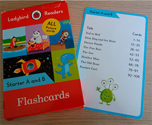 Ladybird readers starter level flashcards (lb)