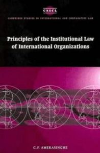 Principles of the institutional law of inter.organizations
