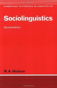Sociolinguistcs second edition