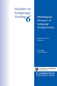 Multilingual glossary of language testing terms